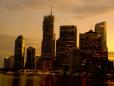 Cidade de Brisbane em seu pôr-do-sol.