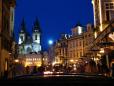 Noite agitada em Praga.