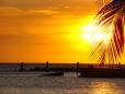 Pôr-do-sol em Mambo Beach.