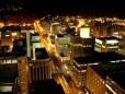 Linda noite em Cape Town.